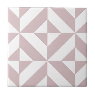 Mauve Geometric Deco Cube Pattern Tile