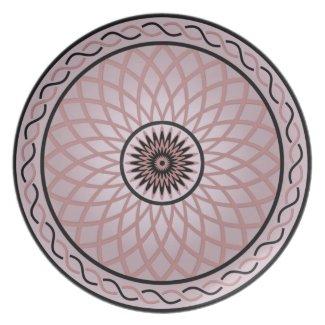 Mauve Geometric Flower Dinner Plates