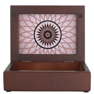 Mauve Geometric Flower Keepsake Box