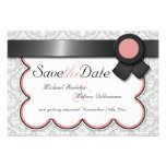 Mauve & Gray Damask Save the Date Announcements
