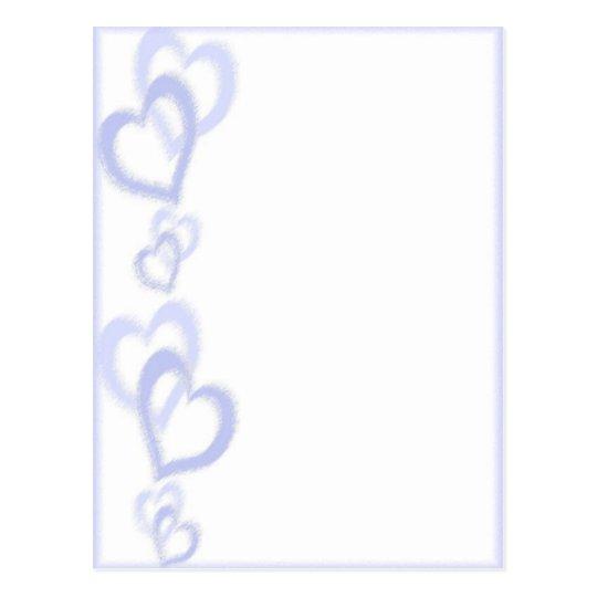 Mauve hearts postcard