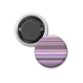 Mauve horizontal stripes magnet