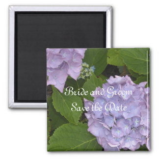 Mauve Hydrangea Save the Date 2 Inch Square Magnet