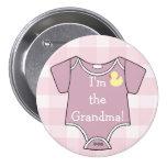 Mauve-Im The Grandma! Pinback Buttons
