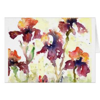 mauve irises card