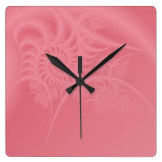 Mauve Lace Fractal Clock