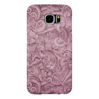 Mauve Lavender Egyption Scroll Print Samsung Galaxy S6 Case