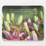 Mauve Lily & Butterfly Mousepad- customize