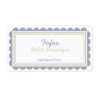 Mauve & Lime Frilly Bordered Large Labels