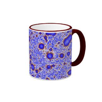 Mauve & Maroon Natural Fractal Vortex Pattern Mug