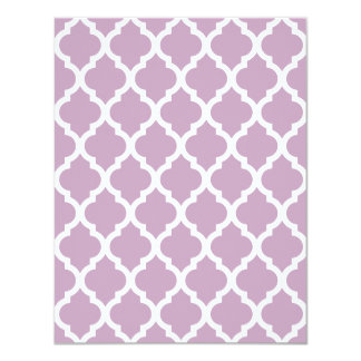 Mauve Mist Moroccan Tile Trellis 4.25x5.5 Paper Invitation Card