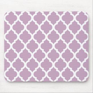 Mauve Mist Moroccan Tile Trellis Mouse Pad