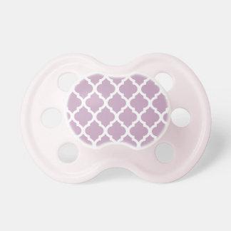 Mauve Mist Moroccan Tile Trellis BooginHead Pacifier
