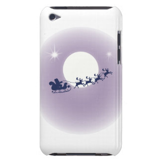 Mauve Moon Flying Reindeer Santa Claus Barely There iPod Cover