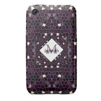 Mauve Mosaic Passion Case-Mate iPhone 3 Case
