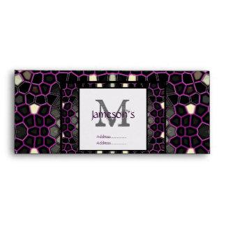 Mauve Mosaic Passion Envelope