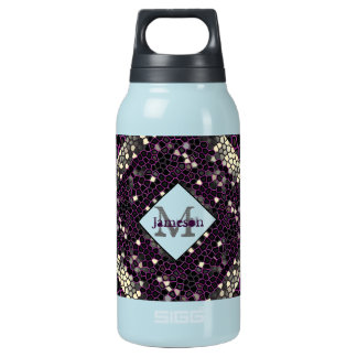 Mauve Mosaic Passion Insulated Water Bottle