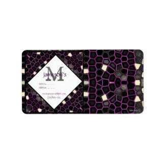 Mauve Mosaic Passion Custom Address Labels