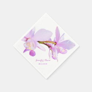Mauve Orchids Paper Napkins