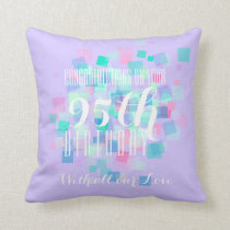Mauve Pastel Colors 95th Birthday Custom Pillow 2