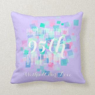 Mauve Pastel Colors 95th Birthday Custom Pillow 2