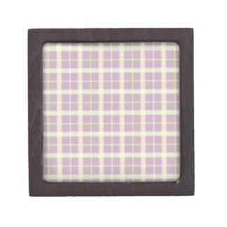 Mauve & Pastels Plaid Premium Jewelry Box