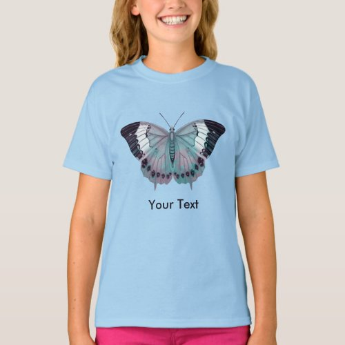 Mauve Pink Purple and Turquoise Butterflies T_Shirt