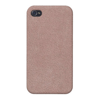 Mauve Pink Ultrasuede Look iPhone 4 Cover