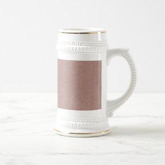 Mauve Pink Ultrasuede Look 18 Oz Beer Stein