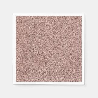 Mauve Pink Ultrasuede Look Paper Napkin