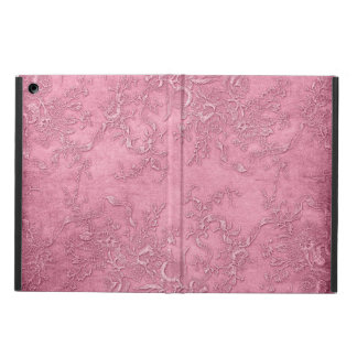 Mauve Pink Victorian Fabric Texture Floral Cover For iPad Air