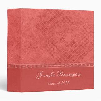 Mauve pink vintage graduation memory book binder