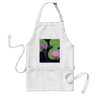 Mauve pink water lilies adult apron