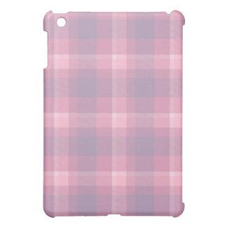 Mauve Plaid Pattern iPad Mini Cases