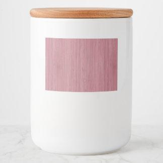 Mauve Purple Bamboo Wood Grain Look Food Label