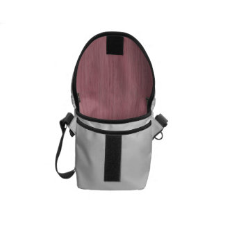 Mauve Purple Bamboo Wood Grain Look Messenger Bag