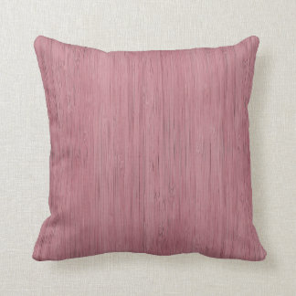 Mauve Purple Bamboo Wood Grain Look Throw Pillow