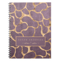 Mauve rose gold sophisticated wallpaper pattern notebook