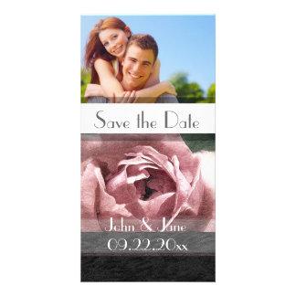 "Mauve Rose  /photo  ""Save the Date"" Photo Card"