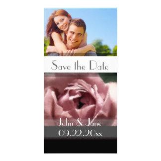 "Mauve Rose  /photo  ""Save the Date"" Customized Photo Card"