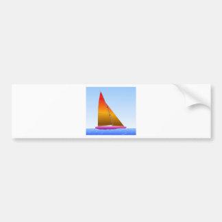 Mauve sailing ship hull bumper sticker