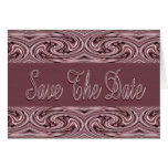 Mauve Save the Date Card