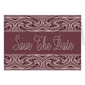 Mauve Save the Date Card