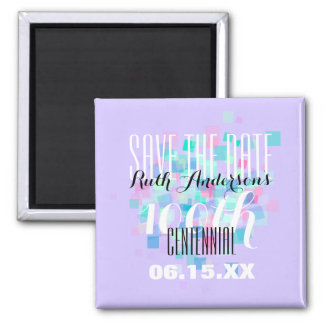 Mauve Save the date Centennial Personalized Magnet
