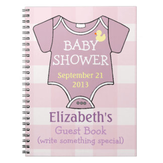 Mauve Shower Guestbook Note Book