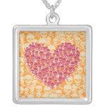 Mauve Skully Heart Custom Jewelry