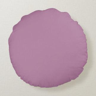 Mauve Solid Color Round Pillow