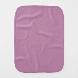Mauve Solid Color Burp Cloths