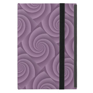Mauve Spiral in brushed metal texture Cover For iPad Mini