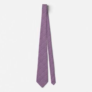 Mauve Spiral in brushed metal texture Tie